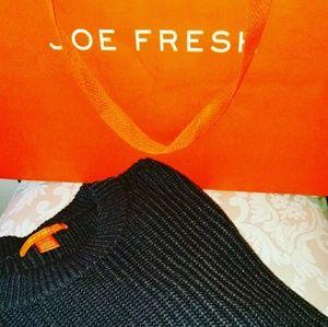 Joe Fresh*gray crewneck tunic sweater 🇳 🇼 🇴 🇹